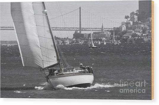 Leisure Sailor Wood Print