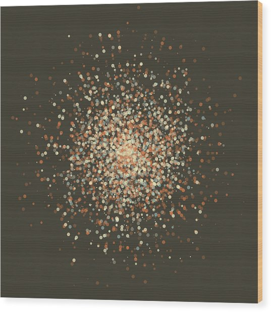 Lemans Supernova Star Cluster Circle Pattern Wood Print by FrankRamspott