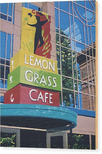Lemon Grass Wood Print by Paul Guyer