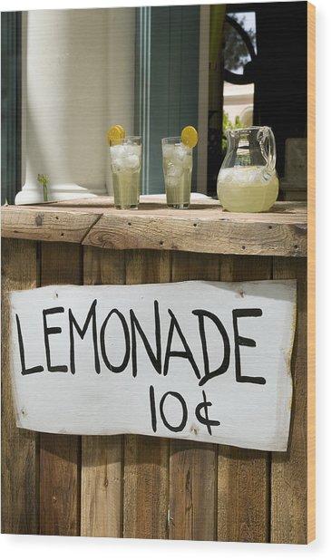 Lemonade Stand Wood Print