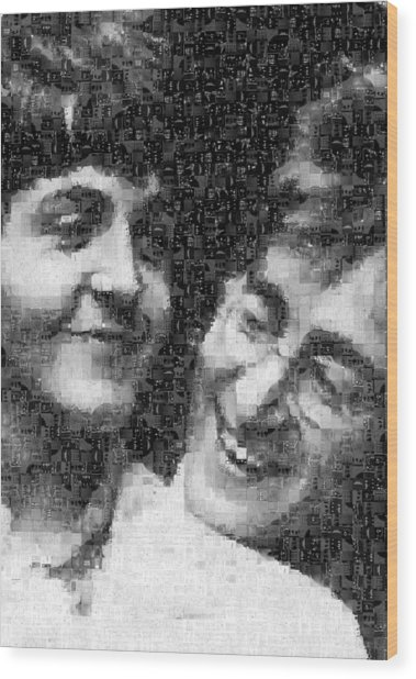 Lennon And Mccartney Mosaic Image 1 Wood Print