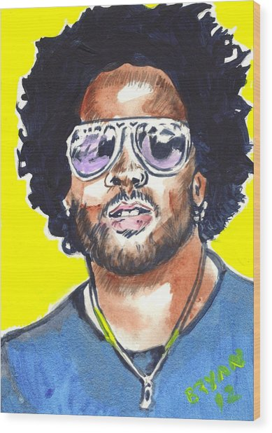 Lenny Kravitz Wood Print