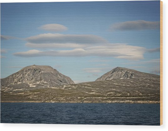 Lenticular Cloud Hangout Wood Print