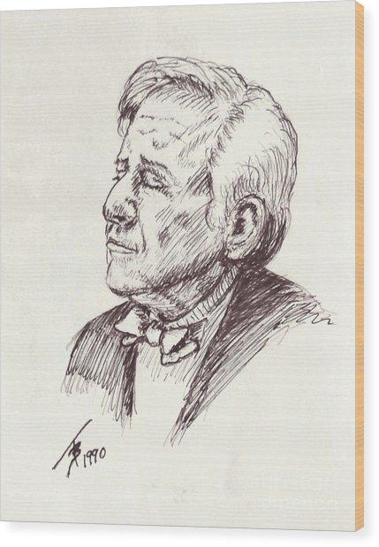 Leonard Berstein Wood Print