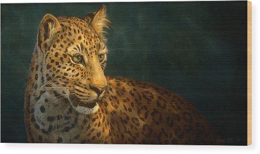 Leopard Wood Print