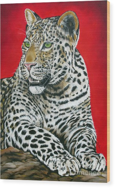 Leopard Wood Print by Ilse Kleyn