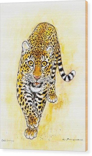 Leopard Wood Print by Kurt Tessmann
