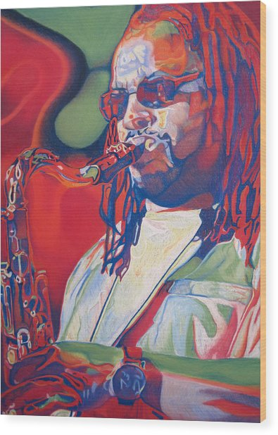 Leroi Moore Colorful Full Band Series Wood Print