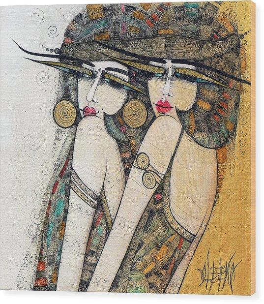 Les Demoiselles Wood Print