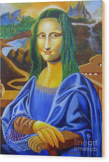 Les Mysteres Jocondais Au Code De Vinci   L E P I H Wood Print
