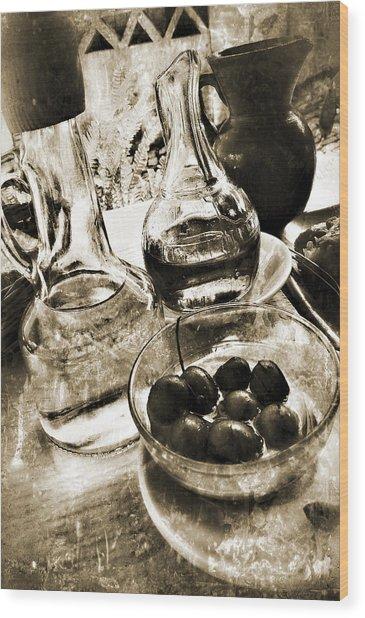 Les Olives Wood Print
