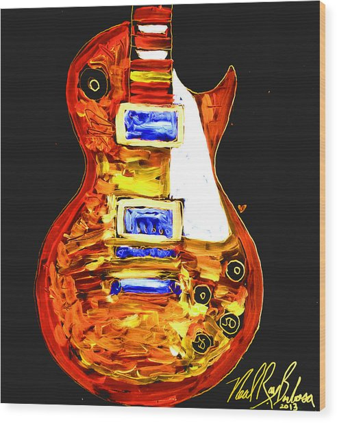 Les Paul 111 Wood Print