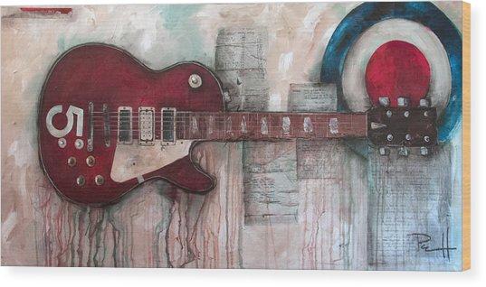 Les Paul Number 5 Wood Print