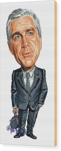 Leslie Nielsen As Dr. Barry Rumack Wood Print by Art