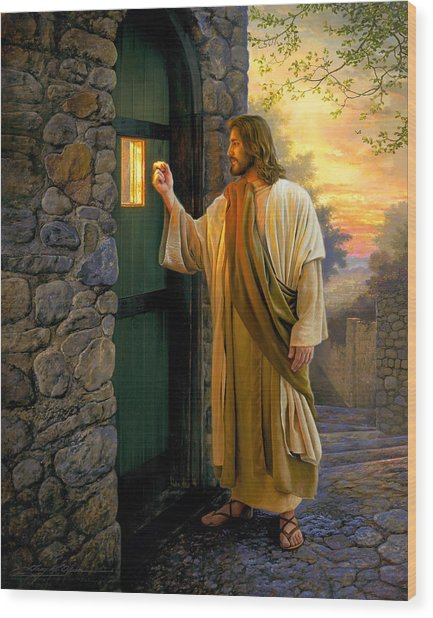 Wood Print featuring the painting Let Him In by Greg Olsen