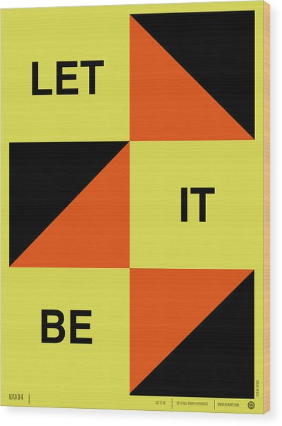 Let It Be Poster Wood Print
