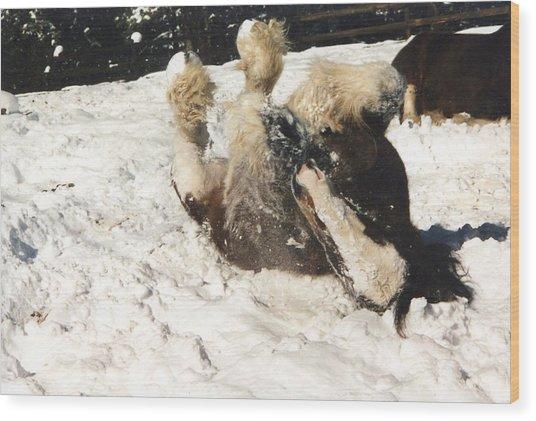 Let It Snow Wood Print