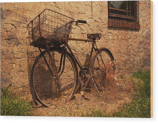 Let's Go Ride A Bike Wood Print