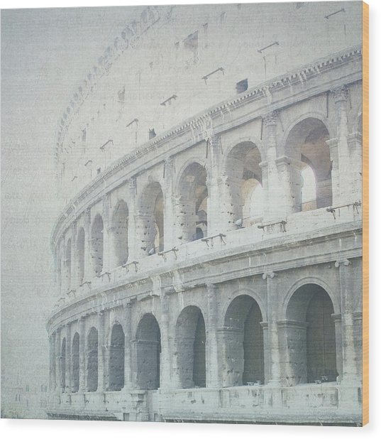 Letters From The Colosseum Wood Print