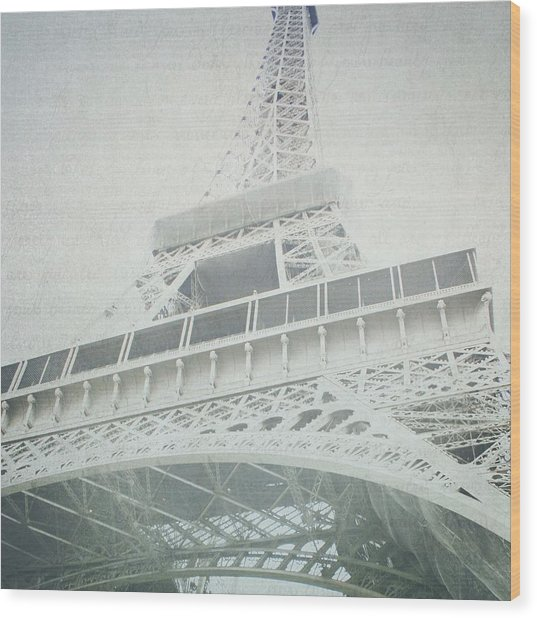 Letters From The Eiffel - Paris Wood Print