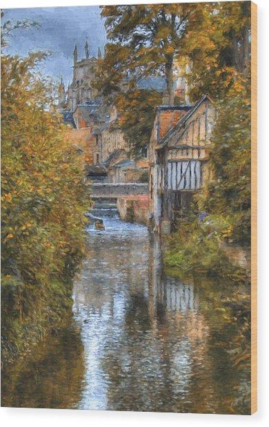 L'eure A Louviers Wood Print