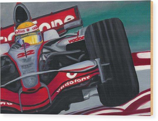 Lewis Hamilton F1 World Champion 2008 Wood Print