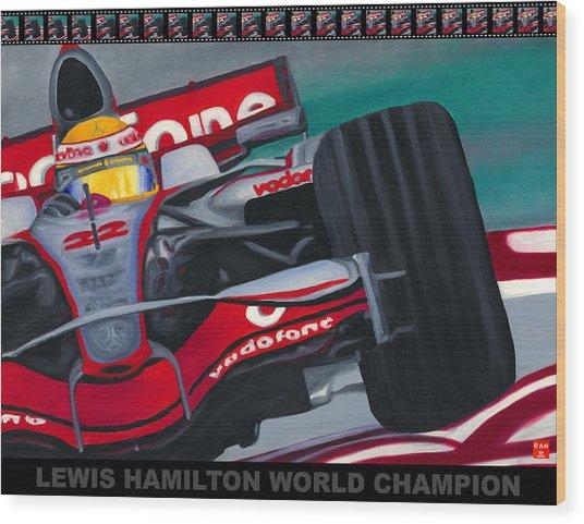 Lewis Hamilton F1 World Champion Pop Wood Print