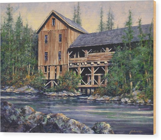 Lewisville Grist Mill Afternoon Wood Print