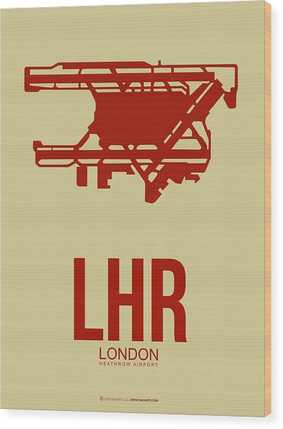 Lhr London Airport Poster 1 Wood Print