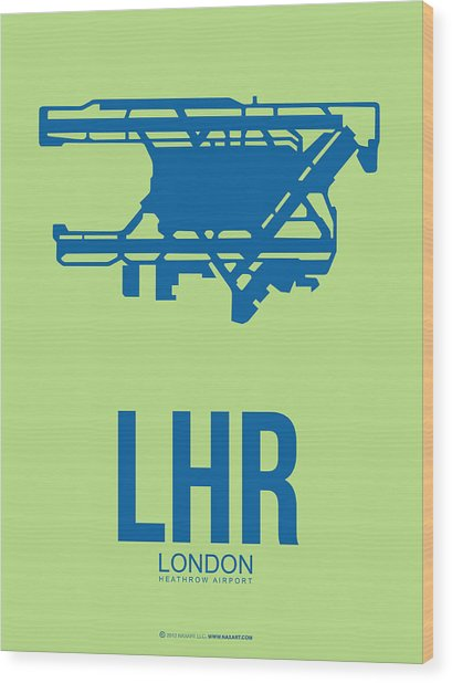 Lhr London Airport Poster 2 Wood Print