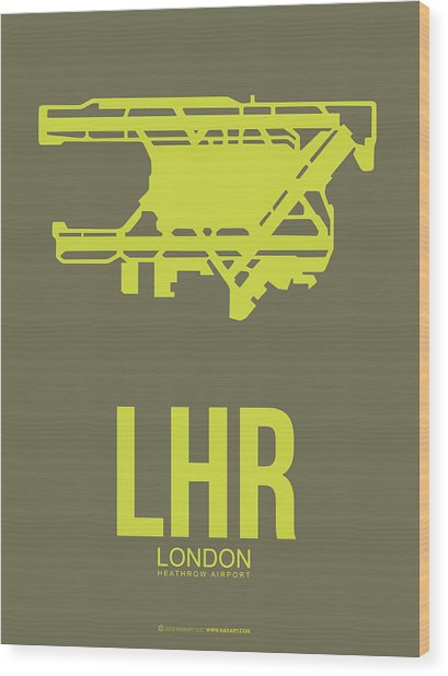 Lhr London Airport Poster 3 Wood Print