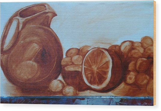 Libations Wood Print