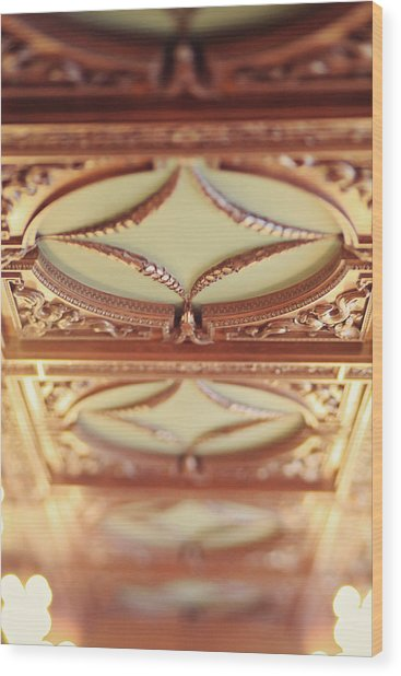 Library Ceiling Wood Print