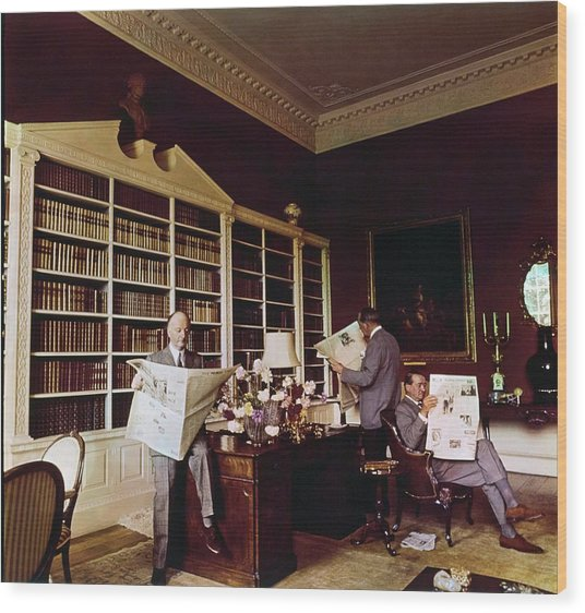 Library In Home Of Lord Iliffe Wood Print