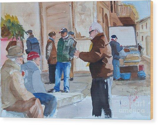 Licata Piazza Wood Print
