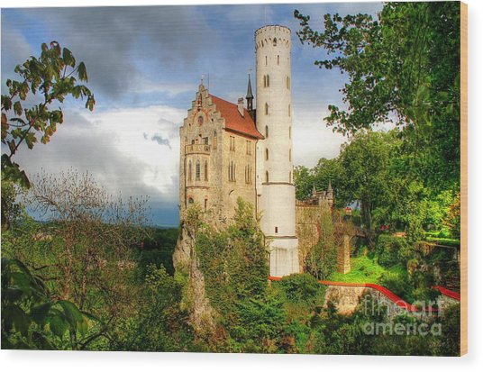 Lichtenstein Castle Swabian Alb Germany Wood Print