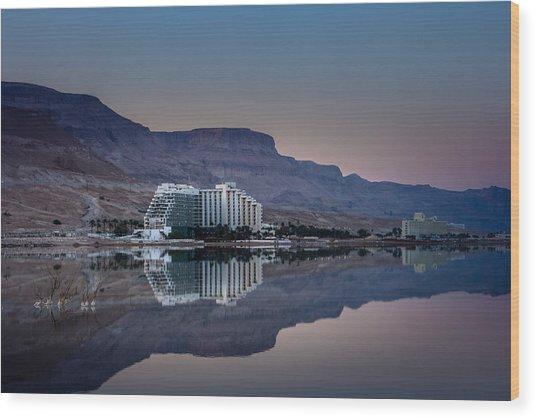 Life At The Dead Sea Wood Print