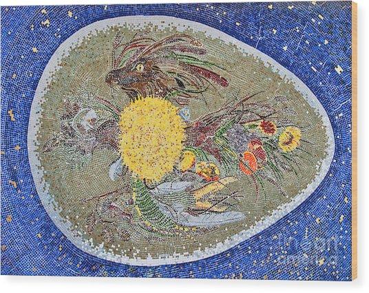 Life Inception Mosaic Wood Print by Mae Wertz