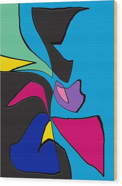 Original Abstract Art Painting Life Is Good By Rjfxx.  Wood Print