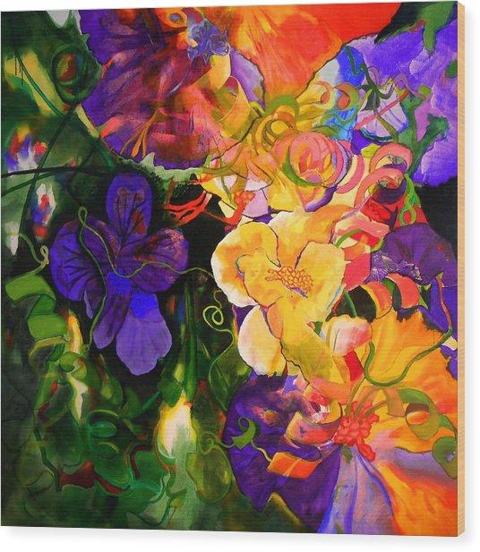 Life Of Flowers Wood Print
