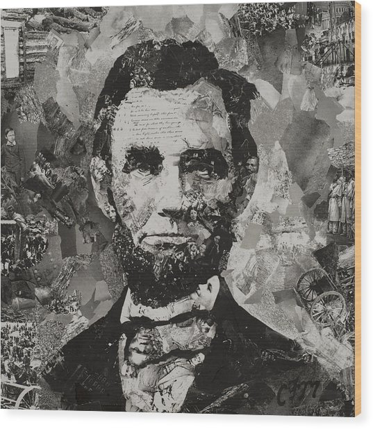 Life Of Lincoln Wood Print