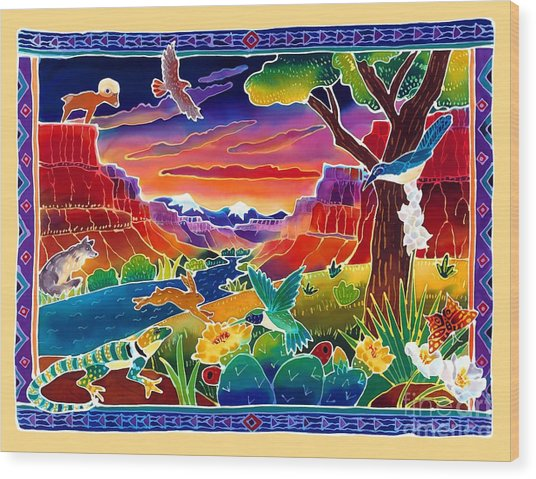 Life Of The Desert Wood Print by Harriet Peck Taylor