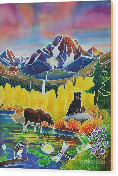 Life Of The Mountains Wood Print