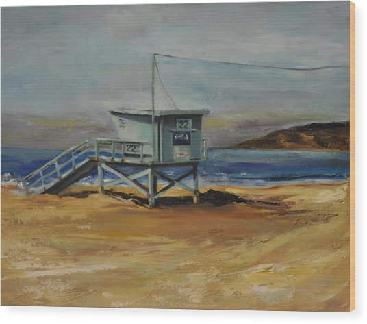 Lifeguard Station Twenty Two Wood Print