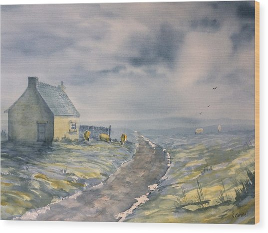 Lifting Mist At Trough House In Glaisdale Wood Print