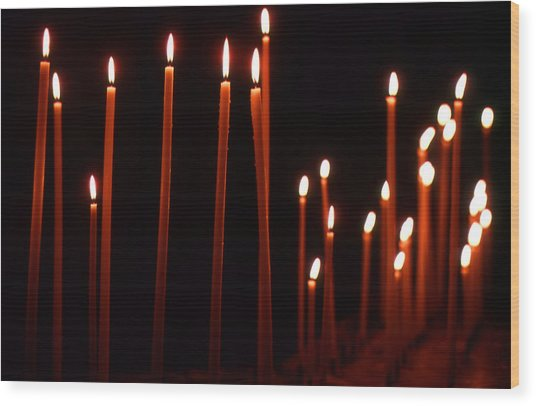 Light A Candle Say A Prayer Wood Print