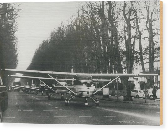 Light Aircraft In March Past Wood Print by Retro Images Archive
