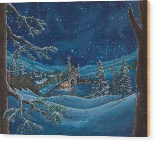 Light And The Darkest Night Wood Print