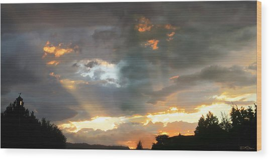Light At Sunset Wood Print by Ric Soulen