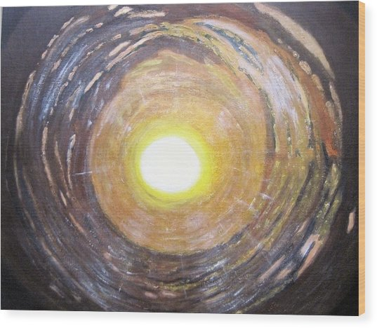 Light At The End Of The Tunnel Wood Print by Waheeda Ramnath